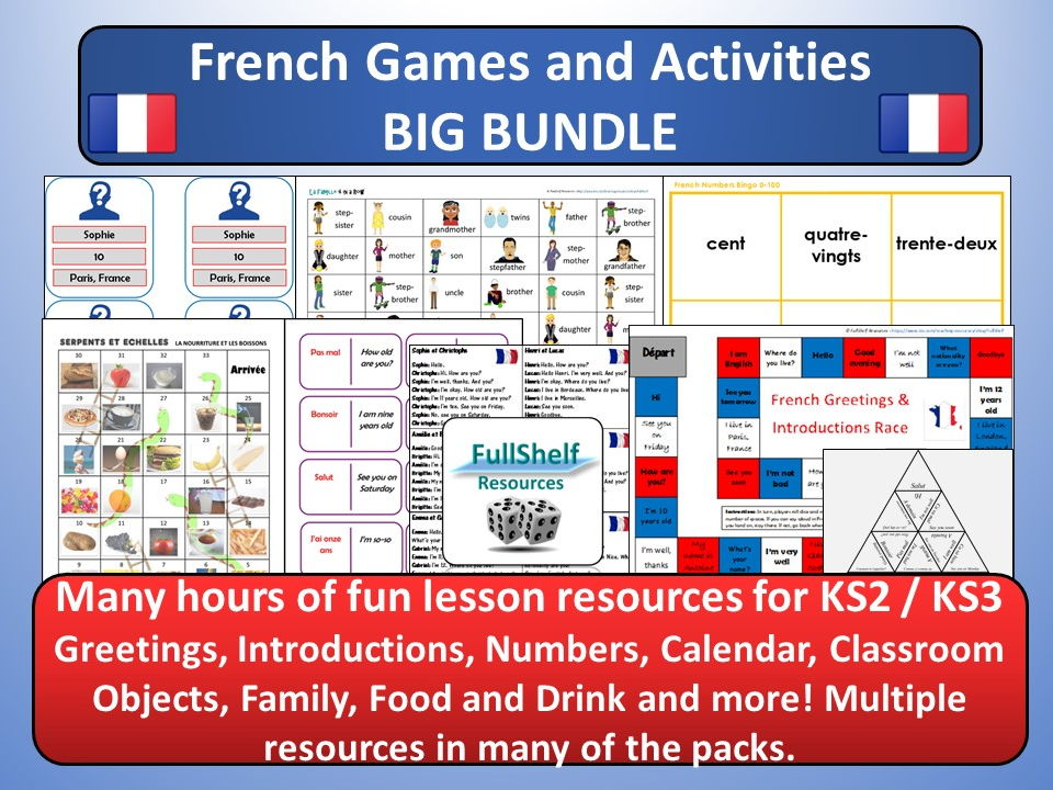 KS2 / KS3 French Games