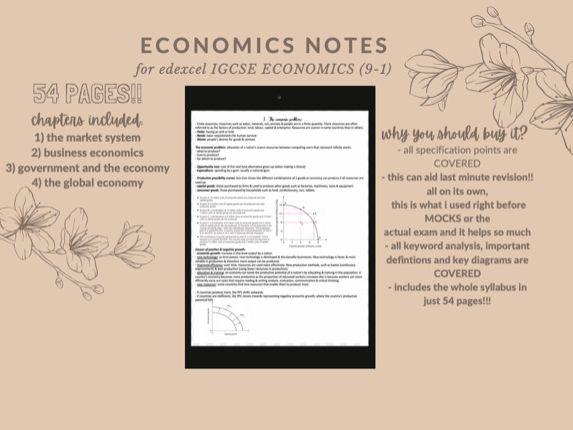 Economics 9-1 IGCSE Notes Unit 1-4