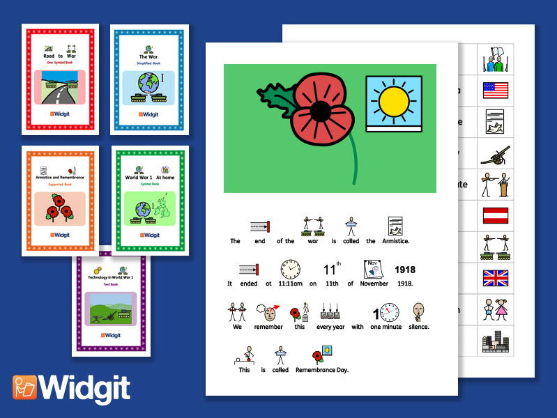 The World War 1 Bundle - History Books and Activities with Widgit Symbols