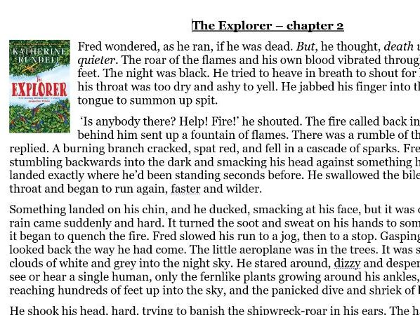 Year 6 reading comprehension: The Explorer