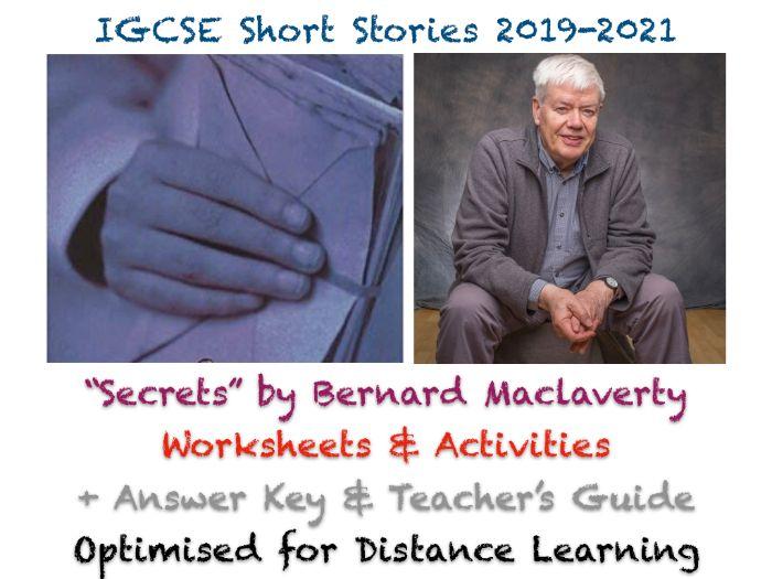"IGCSE Short Stories: ""Secrets"" by Bernard MacLaverty (Teaching + Exam Prep Worksheets + Guide)"