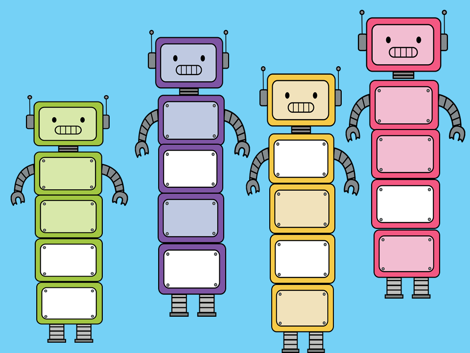 Build your own robot clipart