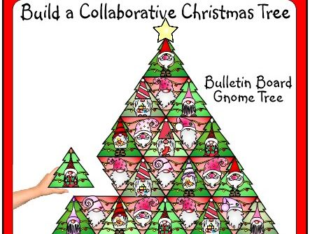 Christmas Craft Collaborative Christmas Tree Creation for your Bulletin Board