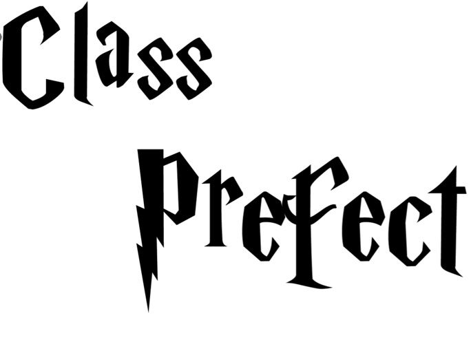 Harry Potter Classroom Signs  (Class Prefect)