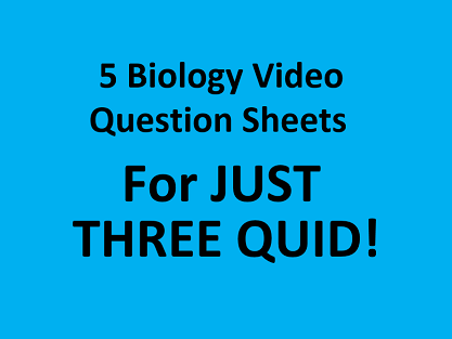 Science in Action - FIVE video sheets!