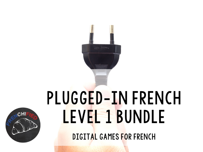 Plugged-in French level 1 digital review games