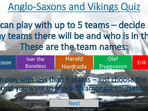 Anglo-Saxon and Vikings KS2 Quiz