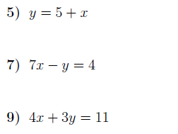 Gradient and y-intercept of a line worksheet (with solutions)