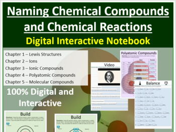 Naming Chemical Compounds and Chemical Reactions - Digital Interactive Notebook
