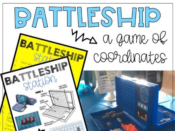 Battleship / Sea Battle Coordinates Game