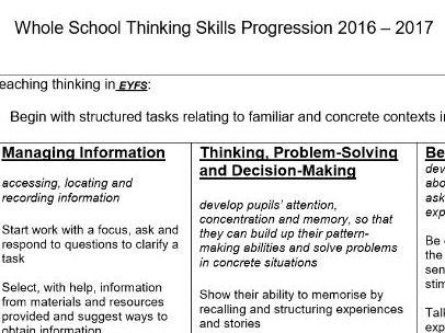 Progression in Thinking