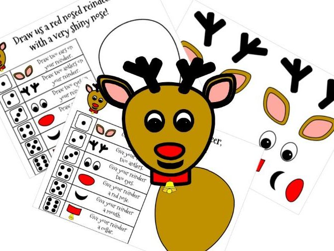 Roll a Reindeer Christmas Dice Game - Number Recognition for Early Years