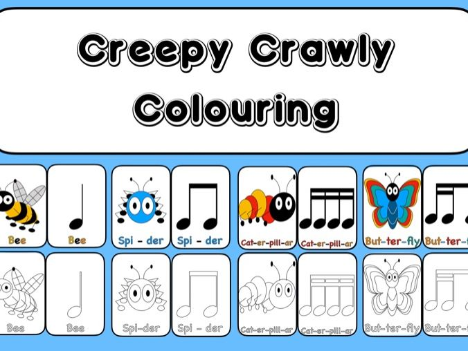 Creepy Crawly Colouring  In