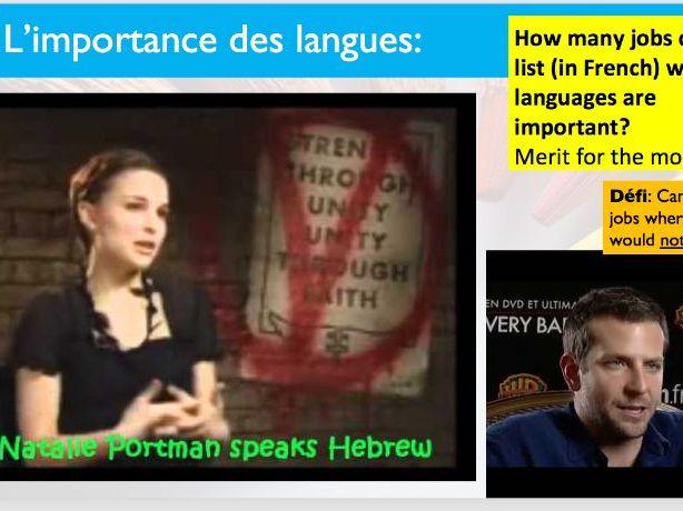 Les langues (importance of languages at work)
