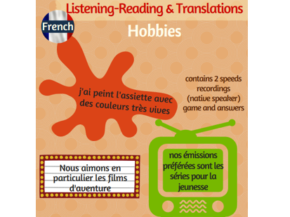 Talking about hobbies: French listening-reading-Translations (including native recordings)