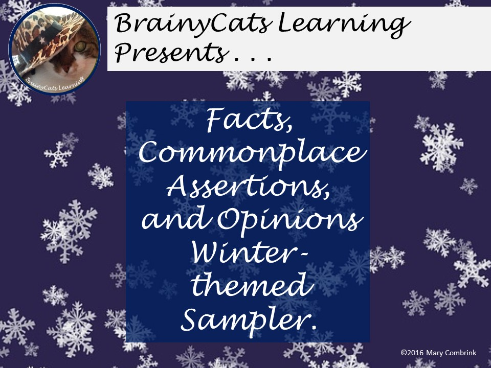 SAMPLER|  Facts, Commonplace Assertions, and Opinions