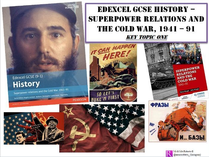 Edexcel GCSE History - Superpower relations & the Cold War - Key Topic 1 PPT & Activities
