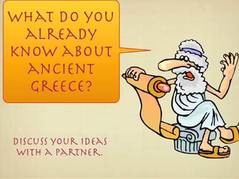Ancient Greece- Year 5 Introduction lesson