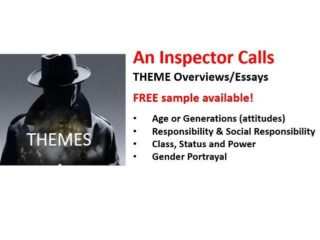 An Inspector Calls - Main Theme Overviews / Essays