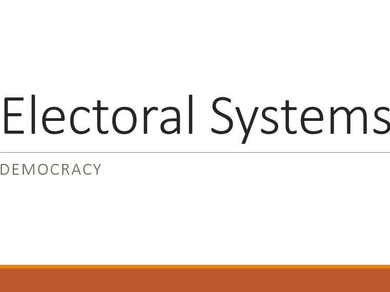 Electoral Systems - FPTP