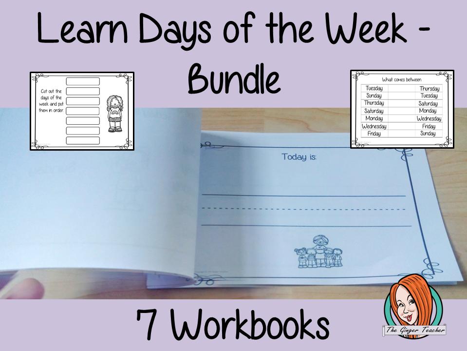 Days of the Week Pre-School Activities - Bundle