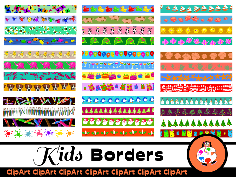 Kids Page Edge Border Mega Pack