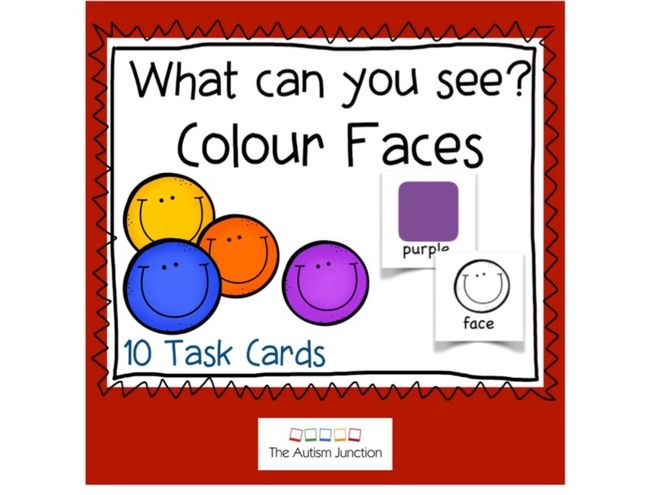 What can you see? Colour Faces UK version