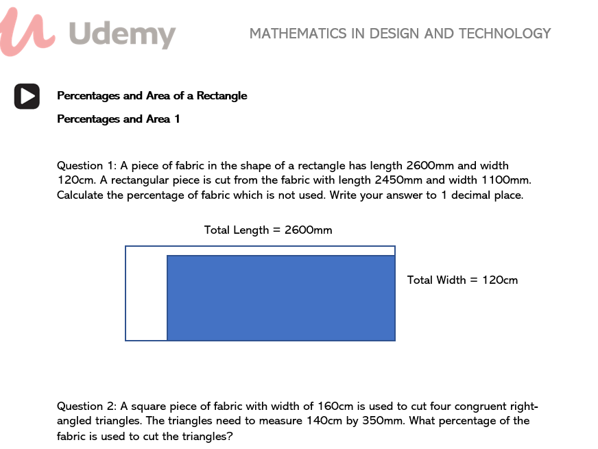 Mathematics in Design and Technology