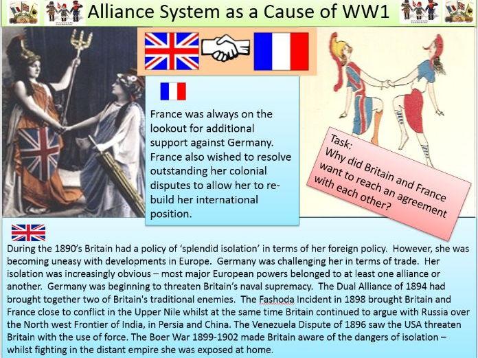 Alliances pre-ww1.  Dual Alliance - Triple Alliance - Entente Cordiale - Triple Alliance