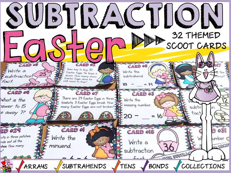 EASTER SUBTRACTION SCOOT