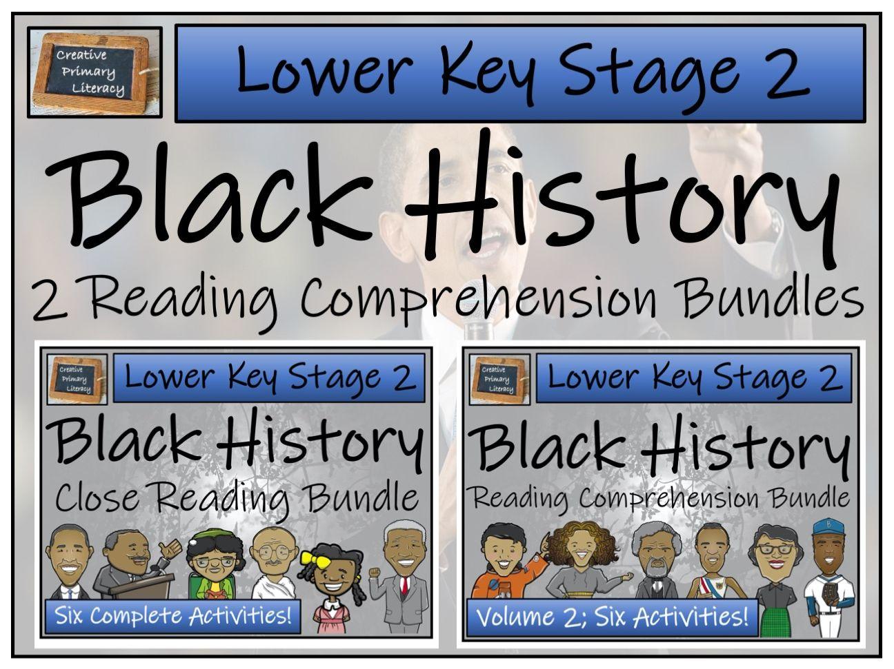 LKS2 Black History Reading Comprehension Bundles Volumes 1 & 2 | Digital & Print