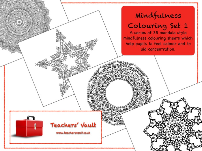 Mindfulness Colouring Set 1
