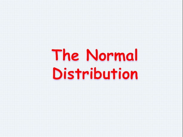 The Normal distribution - Standard Level IB