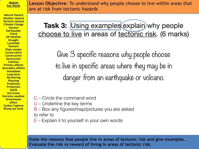 AQA Natural Hazards - Living with Tectonic Hazards