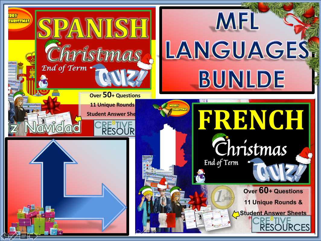 MFL French Spanish Christmas BUNDLE