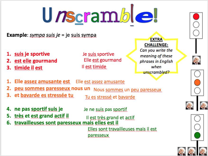 Describing myself and opinion phrases - Expo 1 Module 2 - differentiated lesson