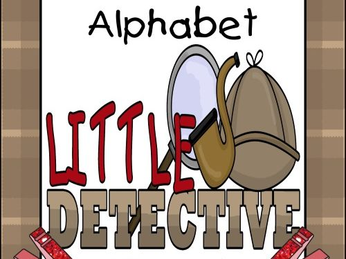 Alphabet ABC Clip Cards - Detective