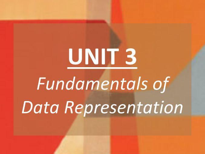 Data Representation (Unit 3) - COMPLETE REVISION GUIDE - GCSE AQA Computer Science