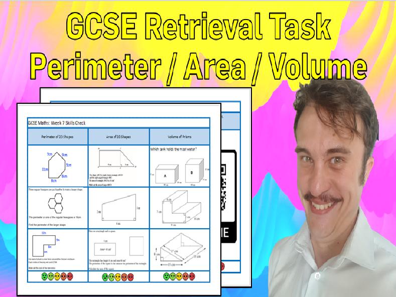 Perimeter, Area and Volume GCSE Foundation/Resit Retrieval Sheet