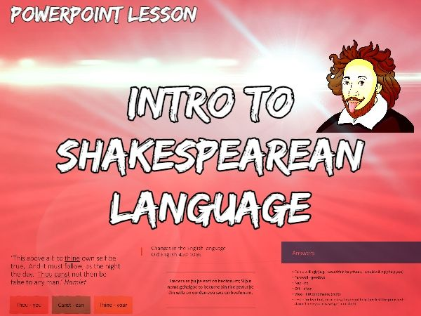 Introduction to Shakespearean Language