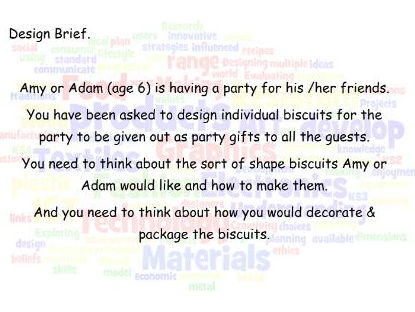 YR5/6 CADCAM Biscuit Project - DT Introduction
