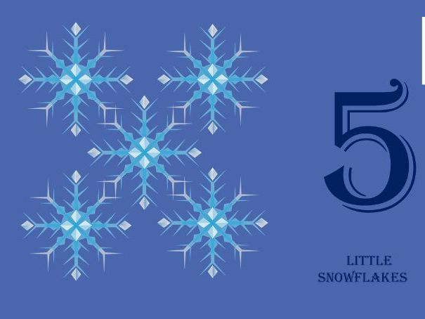 Counting songs for EYFS - Five little snowflakes