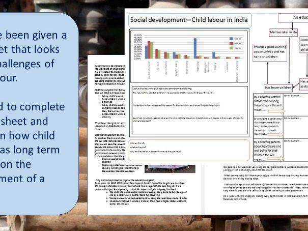 Social development (HDI, indicators, child labour and refugee crisis) with homework AQA & Eduqas