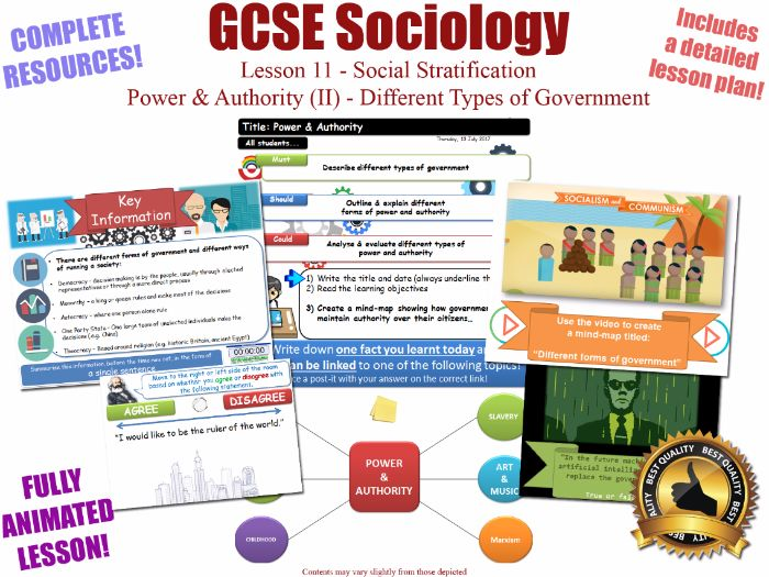 Power & Authority (II) - Social Stratification -L11/20 [ AQA GCSE Sociology - 8192]