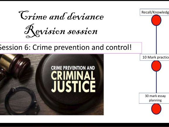 Crime prevention and control revsion AQA A Level Sociology