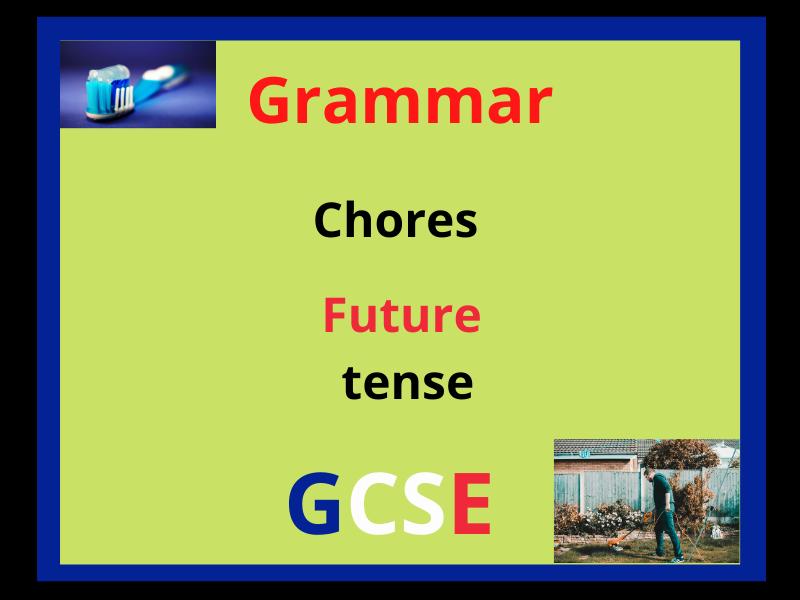 French future tense - chores