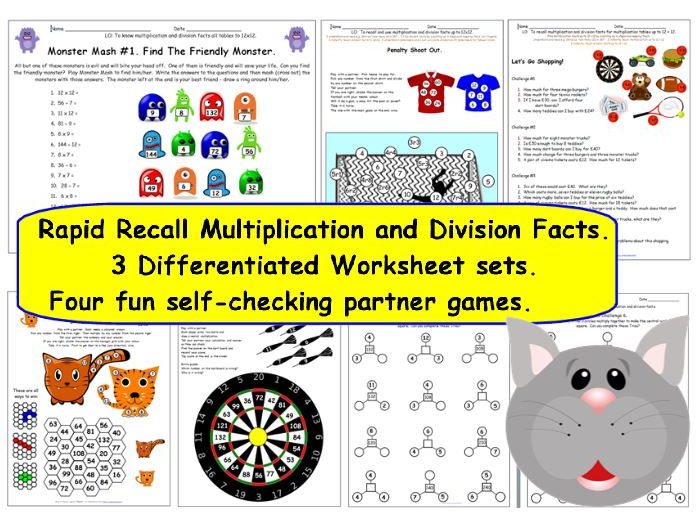 Time Conversion Worksheets 5th Grade Word Y Y Y Recall Multiplication  Division Facts Up To     Maths Year 4 Worksheets Word with Bigger Than Smaller Than Worksheets Pdf Y Y Y Recall Multiplication  Division Facts Up To     Differentiated Worksheets  Games By Tes  Teaching Resources  Tes Behavior Of Gases Worksheet Answers Word
