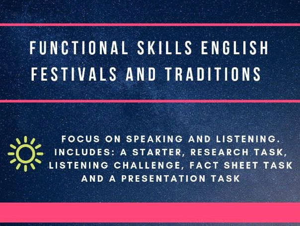 Functional Skills Speaking and Listening