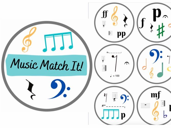 Music Match It Grade 1 Dobble Style Music Theory  Card Game