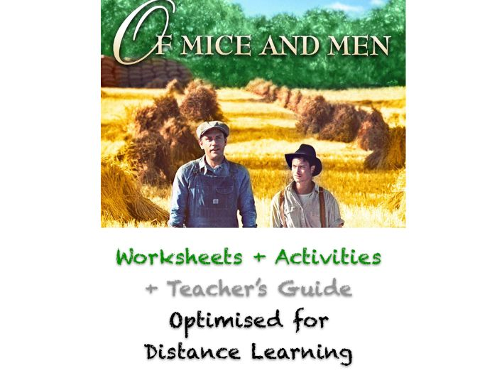 Of Mice and Men - Chapter 5 - Complete ACTIVITIES + WORKSHEETS + ANSWERS + GUIDE